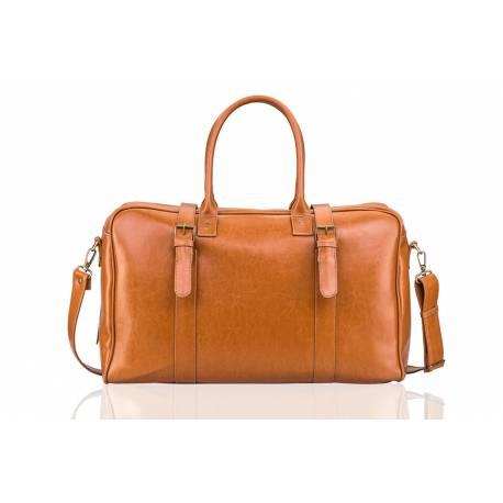 7a03188edb5e7 Skórzana męska torba walizka solier sl16 jasny brąz - Gentle Man
