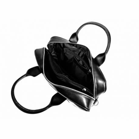 Duża skórzana torba na laptop brodrene bl03xl czarna