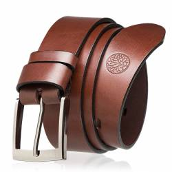 Skórzany pasek do spodni bytlewski lic35-0 brązowy
