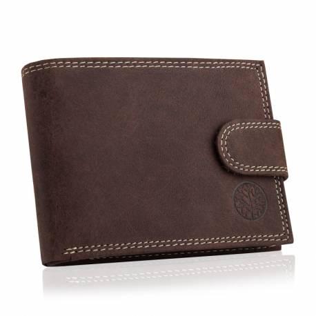 Męski skórzany portfel betlewski bpm-nd-60 brązowy