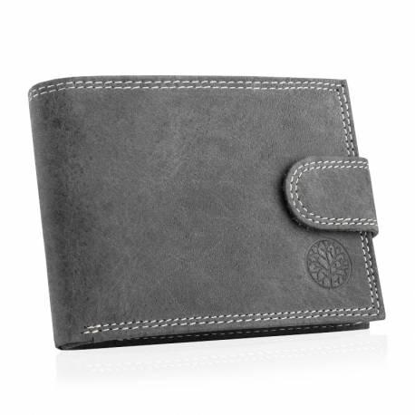 Męski skórzany portfel betlewski bpm-nd-60 grafitowy