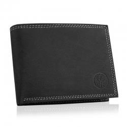 Skórzany portfel betlewski bpm-nd-61 czarny