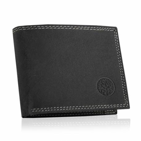 Skórzany męski portfel betlewski rfid BPM-ND-71 czarny