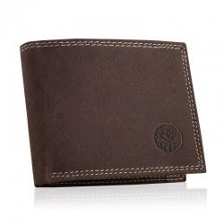 Skórzany męski portfel betlewski rfid bpm-nd-71 brązowy