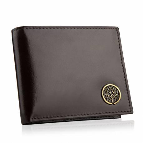Betlewski elegancki skórzany portfel rfid bpm-bf-66 brązowy