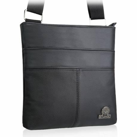 Skórzana saszetka torba na ramię betlewski btg-07