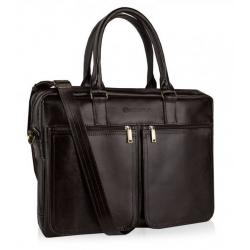 Skórzana torba na ramię laptop betlewski btm-02 brązowa