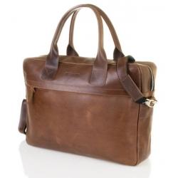 Męska torba na ramię laptop Brodrene BL03 jasny brąz