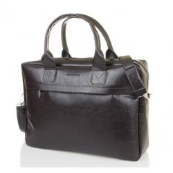 Męska torba na ramię laptop brodrene B03 brązowa