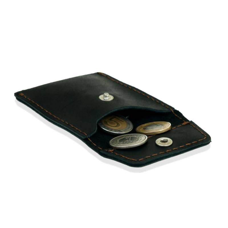 2873edb86fc96 Skórzany portfel na monety bilonówka brodrene cw02 czarny - Gentle Man