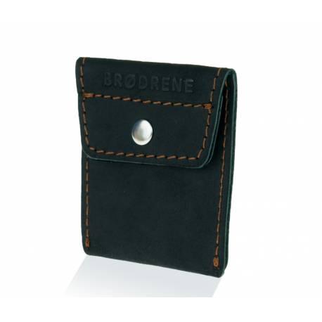 a227f21411a5e Zestaw skórzany portfel i bilonówka na monety brodrene czarny ...