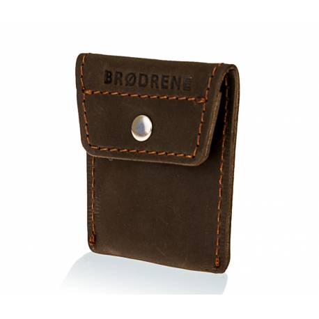 Skórzany portfel na monety bilonówka brodrene cw02 ciemny brąz