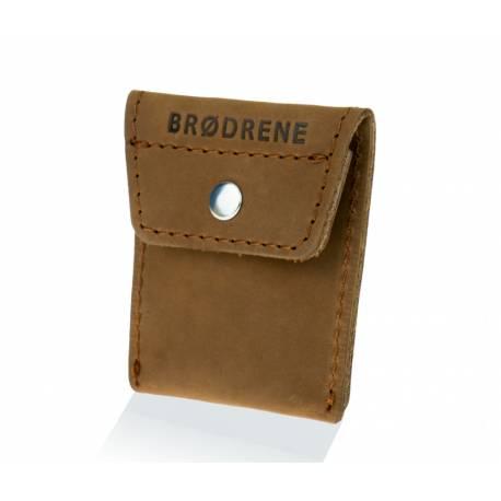Skórzany portfel na monety bilonówka brodrene cw02 jasny brąz