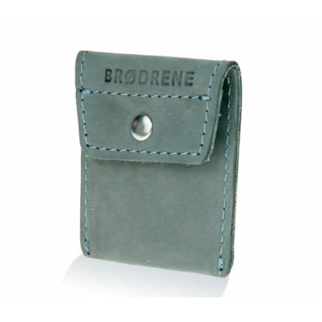 Skórzany portfel na monety bilonówka brodrene cw02 szary