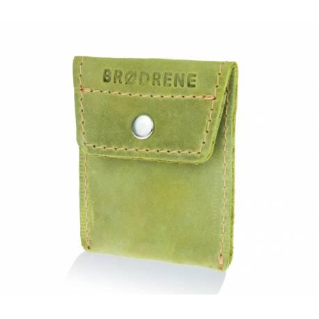 Skórzany portfel na monety bilonówka brodrene CW02 oliwkowy