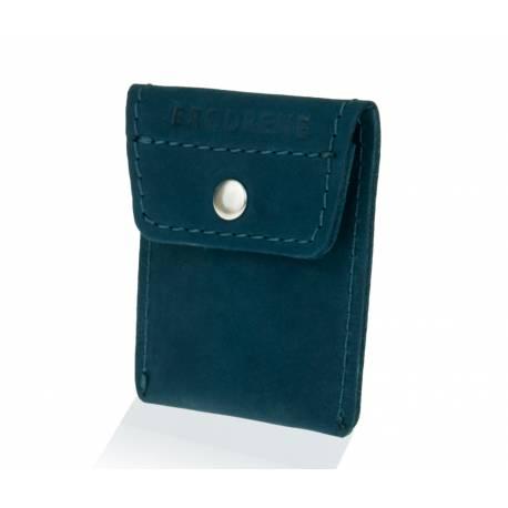 Skórzany portfel na monety bilonówka brodrene CW02 granatowy
