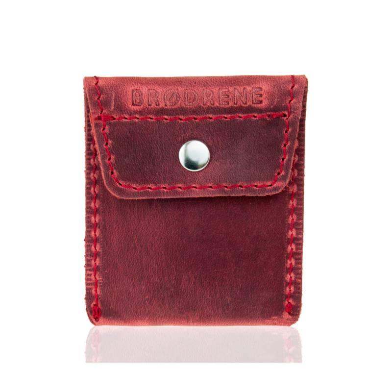 6fe7c49307df5 Skórzany portfel na monety bilonówka brodrene CW02 czerwony - Gentle Man