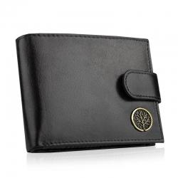 Betlewski elegancki skórzany portfel rfid bpm-bf-60 czarny