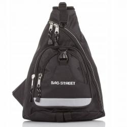 Sportowy plecak na rower na jedno ramię trójkątny bag street trangular czarny