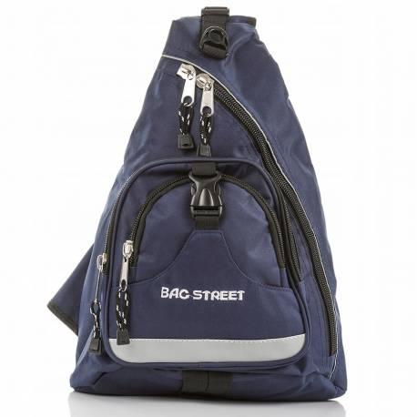 Sportowy plecak na rower na jedno ramię trójkątny bag street trangular niebieski