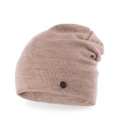 Stylowa czapka beanie smerfetka pamami kawowa