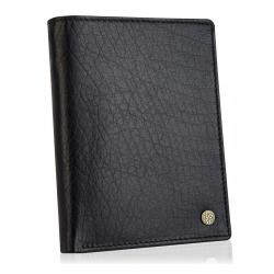Skórzany męski portfel betlewski bpm-ht 575 czarny