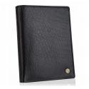 Skórzany męski portfel betlewski bpm-bh 575 czarny