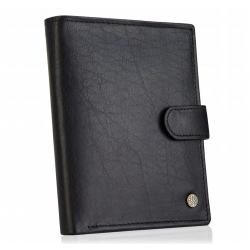 Betlewski męski portfel z patką rfid bpm-bh 993 czarny