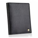 Czarny skórzany portfel rfid betlewski bpm-bh 62