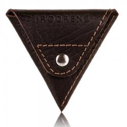 c3840417cb2a0 Mały portfel na monety bilonówka brodrene cw01 cortez ciemny brąz