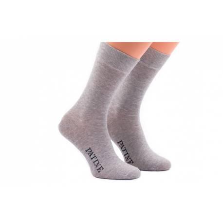 Szare eleganckie męskie skarpety socks patine