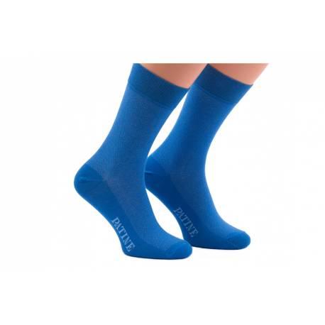 Niebieskie skarpety męskie patine socks