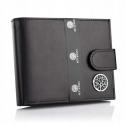 Skórzany męski portfel betlewski bpm-ke-60 czarny