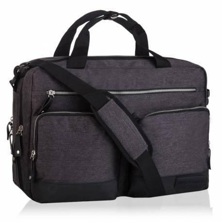 Modna torba na laptop betlewski epo-4078 czarny