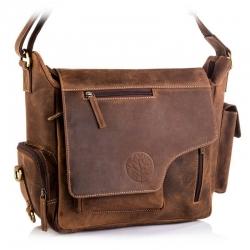 Skórzana torba betlewski tbg-ht-204 brązowy