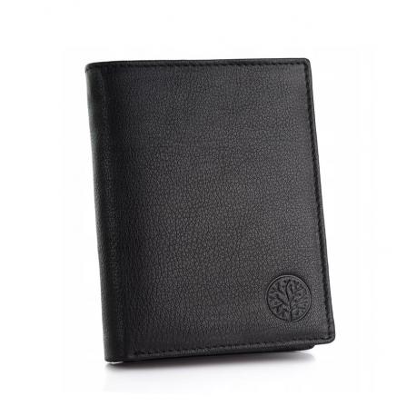 Skórzany portfel betlewski bpm-gtn-62 czarny