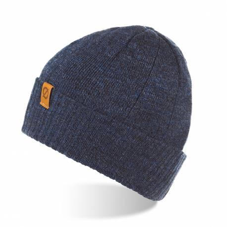 Ciepła zawijana czapka męska na zimę brodrene cw8 granatowa mulina