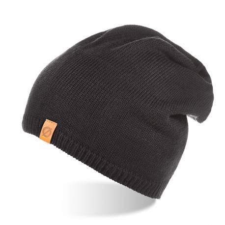Męska czapka zimowa ocieplana polarem brodrene cz2 czarna