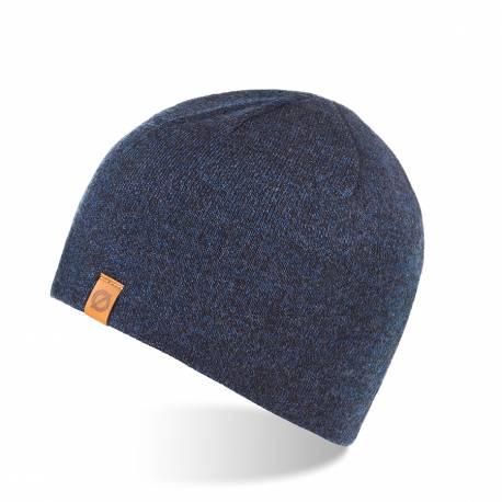 Ciepła czapka zimowa z podszyciem polarowym brodrene cz1 granatowa mulina