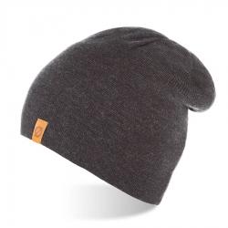 Jesienna czapka męska smerfetka brodrene cz4 ciemnoszara