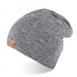 Męska czapka zimowa smerfetka brodrene cz4 jasnoszara mulina