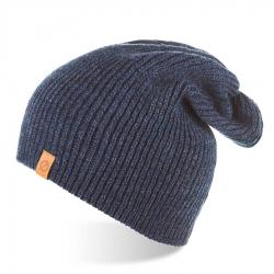 Zimowa czapka smerfetka beanie brodrene cz7 granatowa mulina