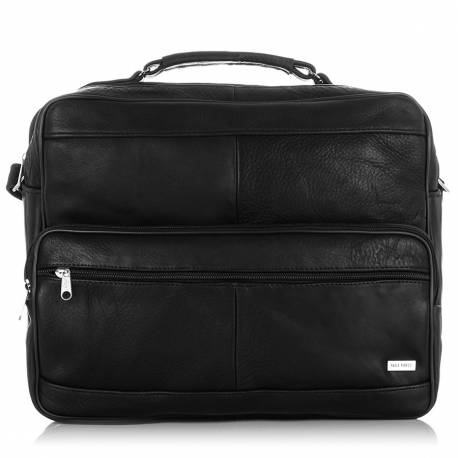 Skórzana torba na ramię paolo peruzzi b-11 czarny