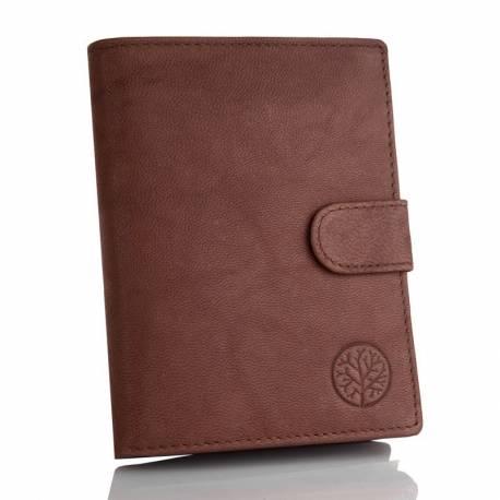 Stylowy portfel betlewski ze skóry naturalnej bpm-gtn-64 brązowy