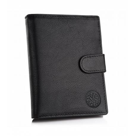 Skórzany męski portfel betlewski bpm-gtn-64 czarny