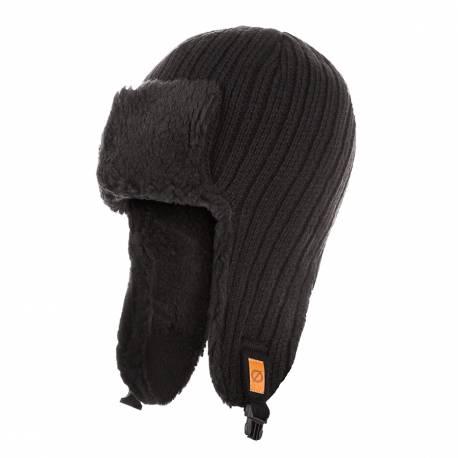 Zimowa czapka uszatka męska pilotka brodrene cz3 czarna