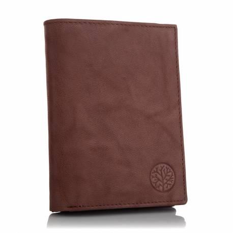 Męski skórzany portfel betlewski bpm-gtn-575 brązowy