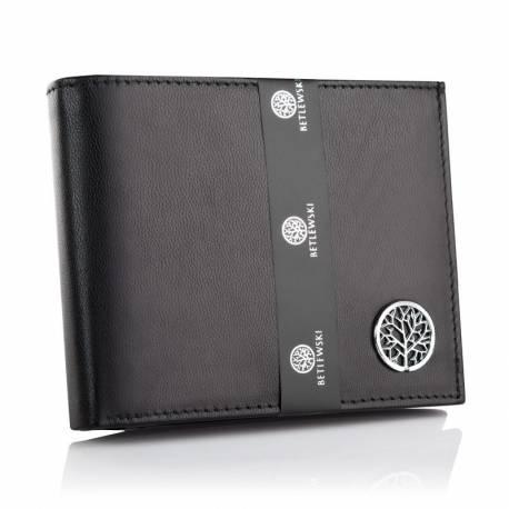 Elegancki męski portfel skórzany bpm-ke-61 czarny