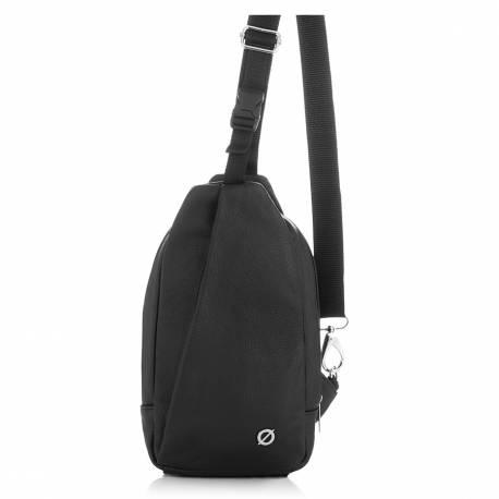 Mała torba na ramię ze skóry naturalnej brodrene bt11 czarna