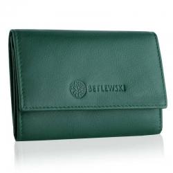 Stylowy damski portfel betlewski rfid bpd-ss-17 zielony